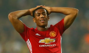 Anthony Martial, who was not in the 18 that beat Feyenoord, scored 17 goals in 45 appearances under Louis van Gaal.