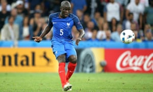 N'Golo Kanté in action for France during Euro 2016. The midfielder is poised to move from champions Leicester City to Chelsea.