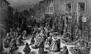 A Victorian slum in the City of Westminster, London, 1872.