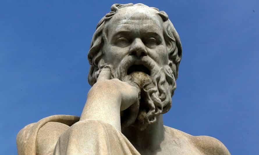statue of Socrates in Athens.