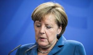 Angela Merkel makes a statement on the Munich shootings in Berlin on Saturday