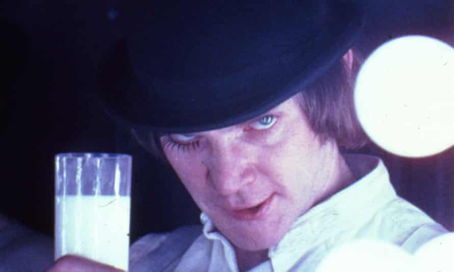 Malcolm McDowell in the film A Clockwork Orange.