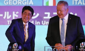 Shinzo Abe and Bill Beaumont
