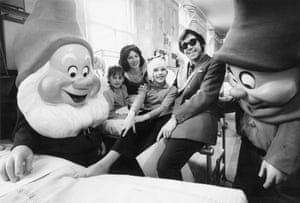 In December 1972 Banks, along with Snow White and the seven dwarves, returned to the hospital for a morale boosting visit to the children's wards