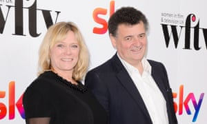 Sue Vertue and Steven Moffat the Women in Film and Television awards on Friday.