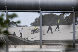 Detainees during a riot at the Frank Baxter juvenile justice centre in New South Wales.