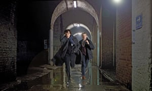 Benedict Cumberbatch and Martin Freeman in a scene from the BBC show Sherlock. The game will feature sets and locations from the series.