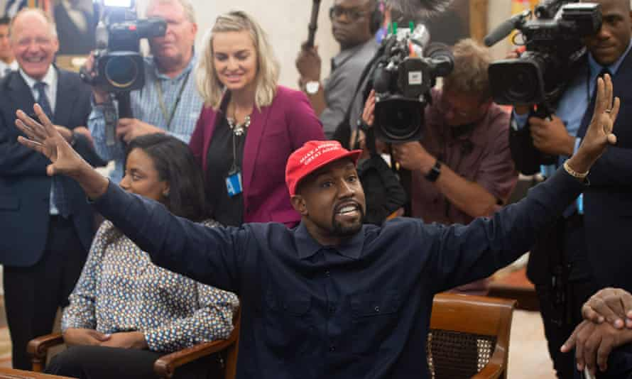 Kanye West meets with Donald Trump at the White House.