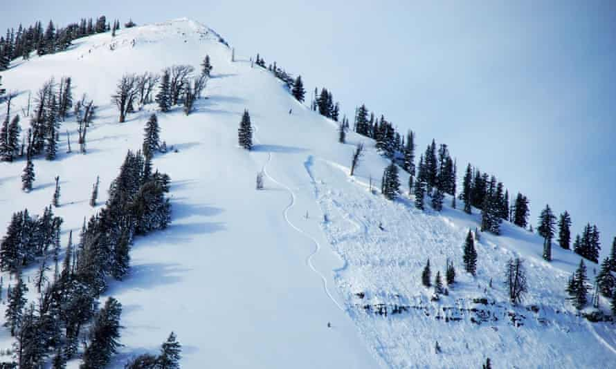 An area near Jackson Hole, Wyoming, where snowboarder Jed Wesley Foster, triggered an avalanche on 19 January 2015.