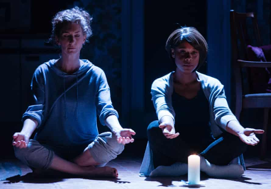 Theatre of remembrance … Hattie Ladbury and Franc Ashman in Nine Night, Natasha Gordon's play about a Jamaican wake.