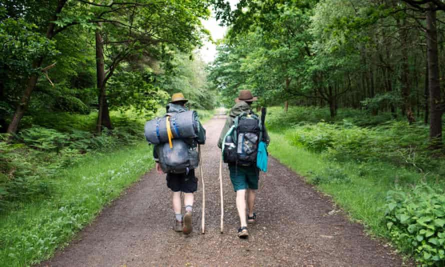 Pilgrims on their two-day quest to find endangered turtle doves.