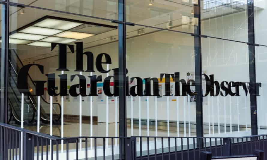 The Guardian newspaper office in King's Cross, London