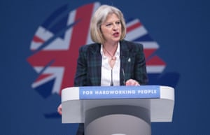 Theresa May at the Conservative Party Annual Conference in 2013.