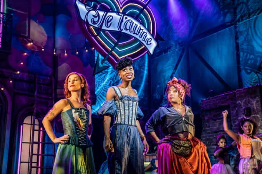 Cassidy Janson (Anne Hathaway), Miriam-Teak Lee (Juliet) and Melanie La Barrie (Nurse) in & Juliet, a musical with songs by Max Martin
