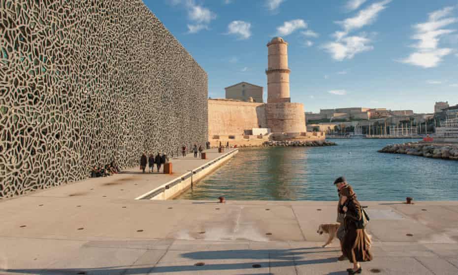 Museum of Mediterranean Civilisations (MuCEM) iand Fort Saint-Jaean at the old port of Marseille, Provence, FranceEFN927 Museum of Mediterranean Civilisations (MuCEM) iand Fort Saint-Jaean at the old port of Marseille, Provence, France