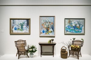 An installation view of the Olley exhibition