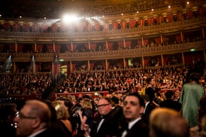 The audience settles in for the evening at the Royal Albert Hall