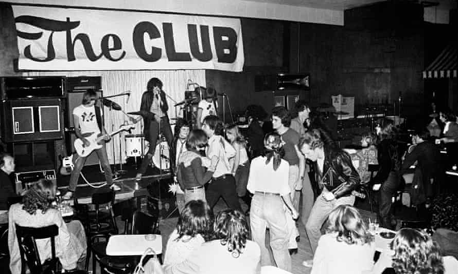 Ramones at The Club in Cambridge, Massachusetts, in May 1976.