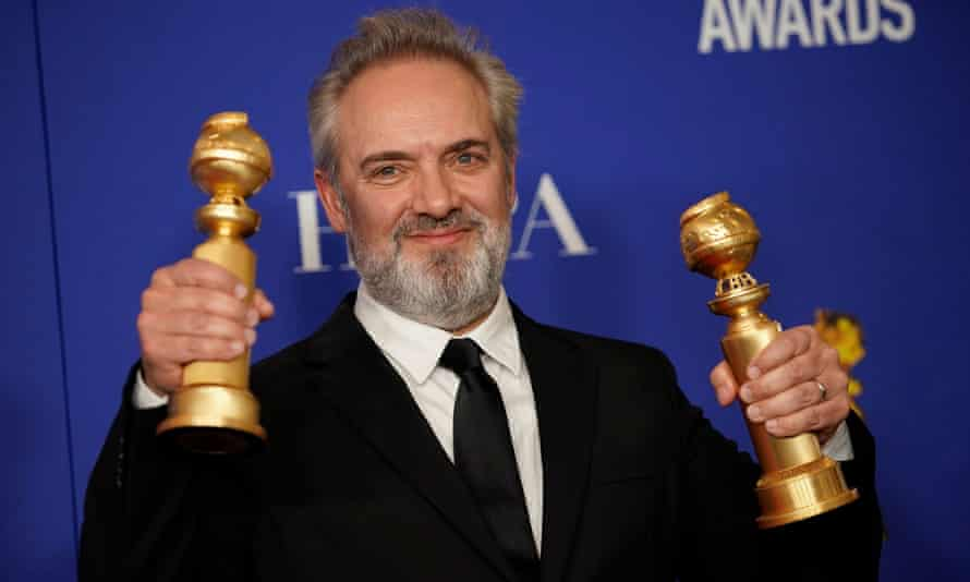 Sam Mendes, director of 1917, won Golden Globes for best picture – drama and best director.