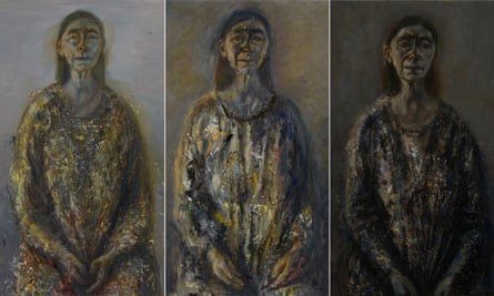 'Voluptuous and yet profoundly modest': self-portraits by Celia Paul dated (l-r) September-October 2015, , January-February 2016 and April 2016.