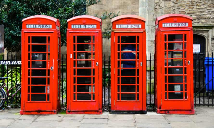 Calling time … telephone boxes in Cambridge.
