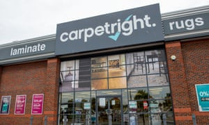 A statement on Carpetright's website said its stores remained open after it reviewed the regulations.
