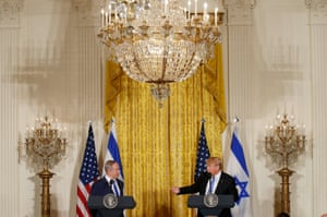 Washington, US President Trump and Israeli Prime Minister Netanyahu hold a joint news conference at the White House