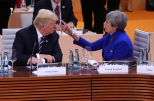 Don't touch the hair! May and Trump