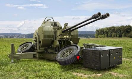 An Oerlikon GDF robot cannon.