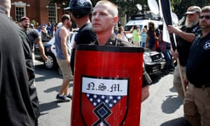 A protester at the white supremacist rally in Charlottesville, Virginia.