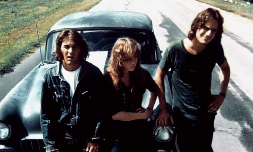 Dennis Wilson, Laurie Bird & James Taylor in Two Lane Blacktop.