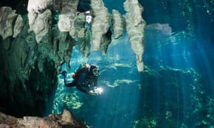 Céline Cousteau loves diving at the cenotes in the Yucatán