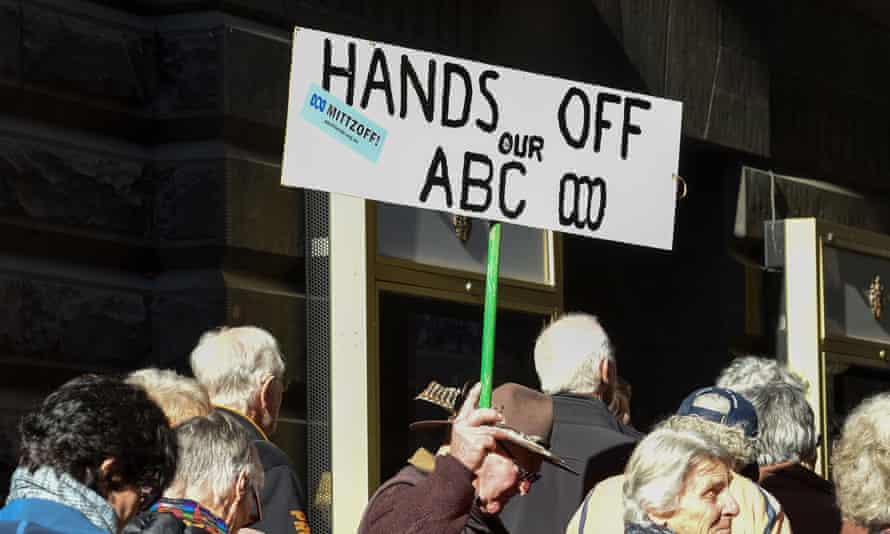 Protest against cuts to the ABC.