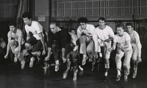 The Jets in West Side Story, Charnin third from right.