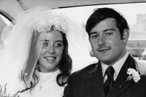 Chris Craik and his wife Dee at their wedding in 1972.