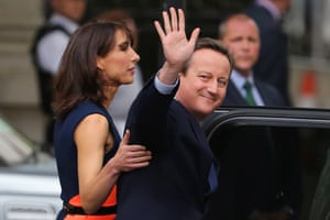 David and Samantha Cameron leave Downing Street