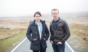 DS Alison 'Tosh' Mcintosh (Alison O'Donnell) and DC Sandy Wilson (Steven Robertson) in the BBC drama Shetland.