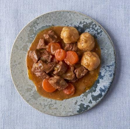 Georgina Hayden' beef stew with dumplings.