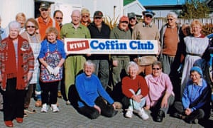Members of the Kiwi Coffin club of Rotorua in New Zeaalnd's North Island.