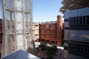 A wind tower within Masdar