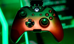 A cloud-based console is displayed at the Microsoft Xbox stand during the Video games trade fair Gamescom in Cologne, Germany