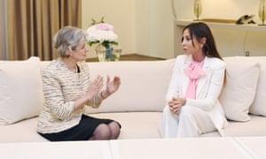 Unesco's director-general, Irina Bokova, meets Azerbaijan's first vice-president, Mehriban Aliyeva