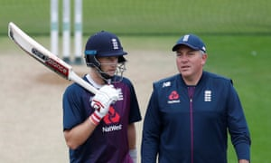 The dynamic between Chris Silverwood (right) and his Test captain, Joe Root, will be interesting to observe as Root may want to focus more on his batting.