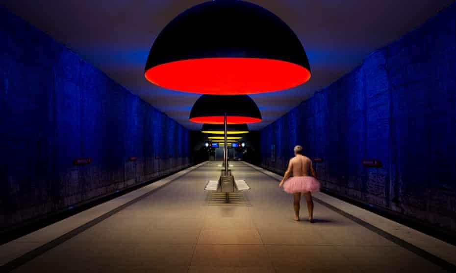 man tutu Munich subway station