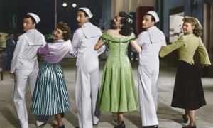 On the Town ... Frank Sinatra, Betty Garrett, Jules Munshin, Ann Miller, Gene Kelly, Vera-Ellen.