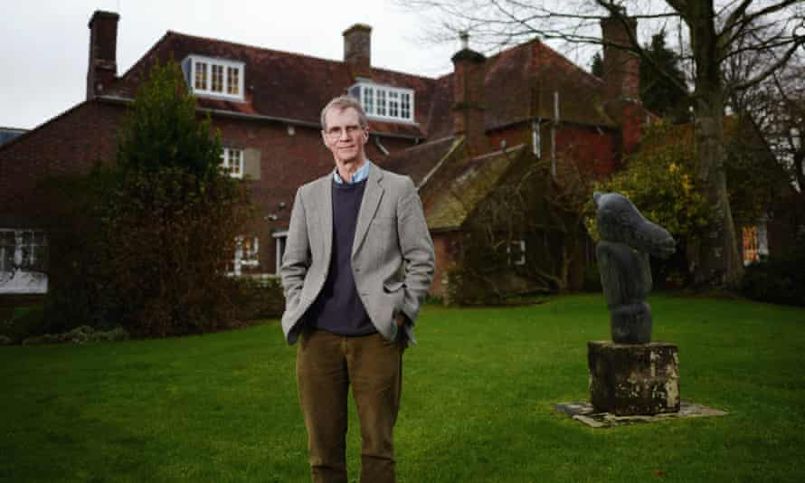 Tony Penrose at Farley Farm House in Sussex, where much of his mother's archive is kept and displayed along with her large collection of art