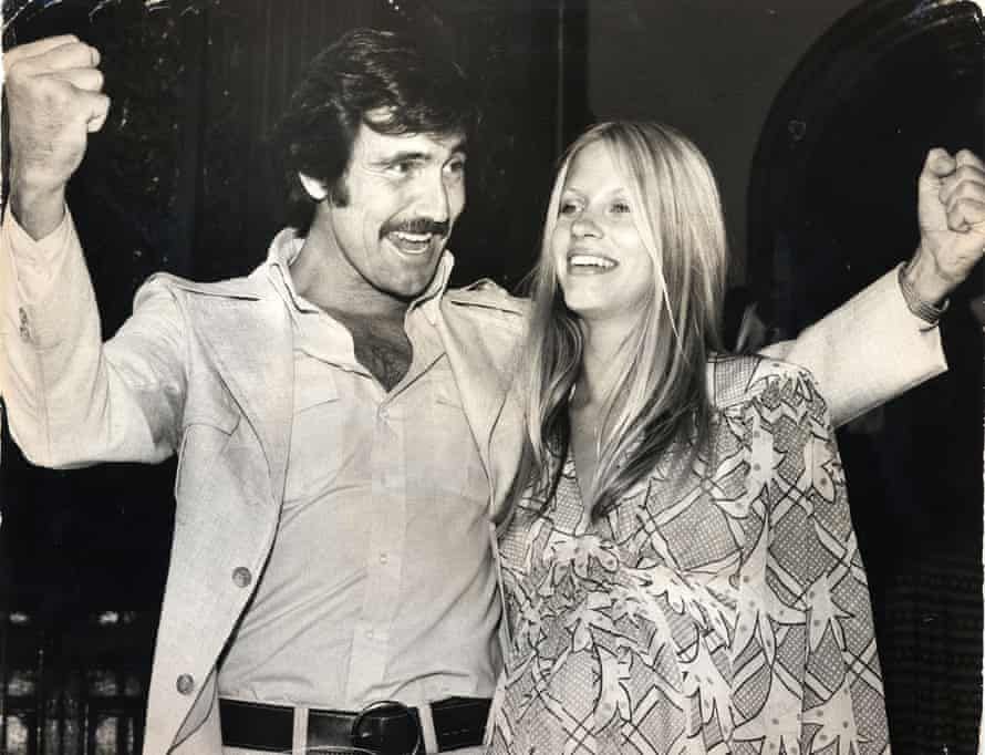 George Lazenby and his first wife Christine Townson