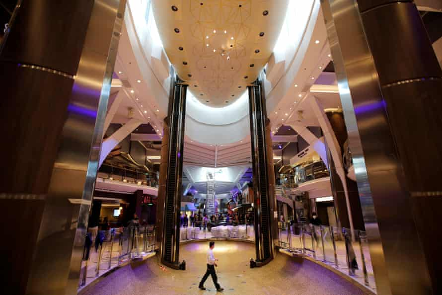 A shopping area on the vessel.