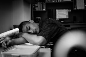 Colleague hard at workShortly afterwards he was offered a second contract. It was that kind of job.