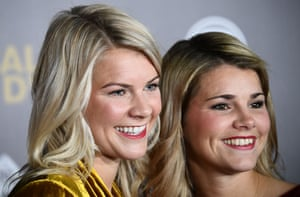Ada Hegerberg (left) and Andrine Hegerberg at the 2018 Ballon d'Or award ceremony